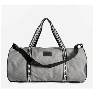 Victoria's Secret Pink Gray Duffle Bag NWT